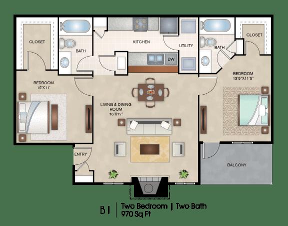 Floor Plan  B1 floor plan layout
