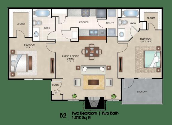 Floor Plan  B2 floor plan layout