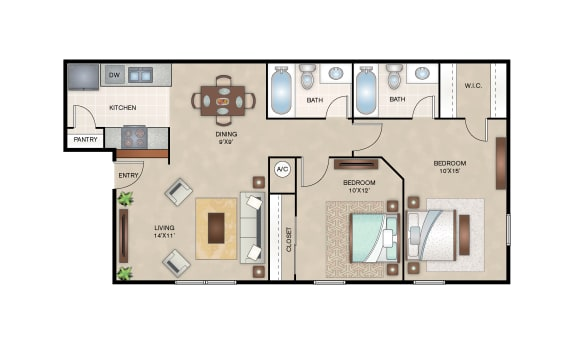 Floor Plan  Mulberry floor plan layout at Arbors of Corsicana