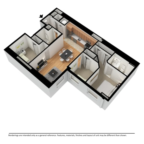 Floor Plan  three bedroom 3d floor plan