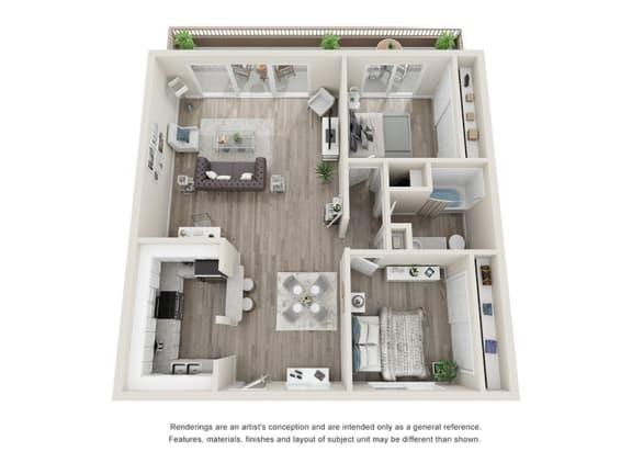 Floor Plan  Miramar Gardens 2 bedroom 1 bathroom