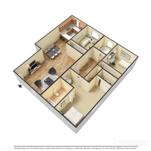 Floor Plan  Capistrano Gardens 3 bed 2 bath floor plan
