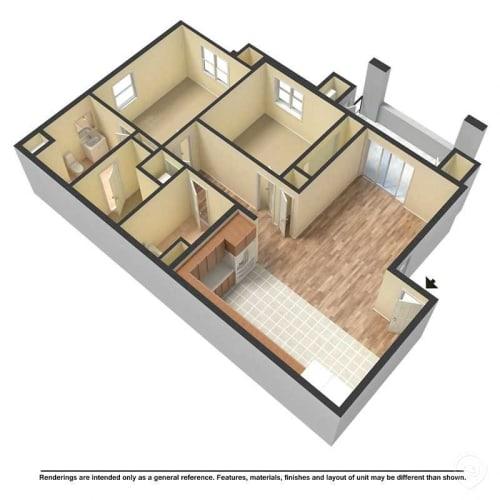 Floor Plan  Yolo Apartments 3D floor plan image