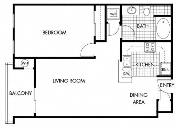 Floor Plan  Mayfair Residences 1Bed 1Bath Floorplan D