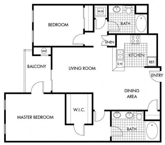 Floor Plan  Mayfair Residences 2Bed 2Bath Floorplan F