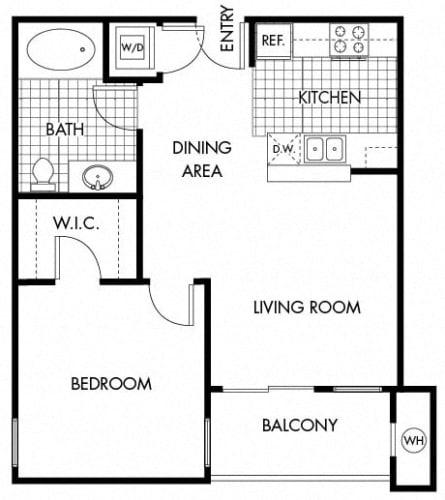 Floor Plan  Mayfair Residences 1Bed 1Bath Floorplan J
