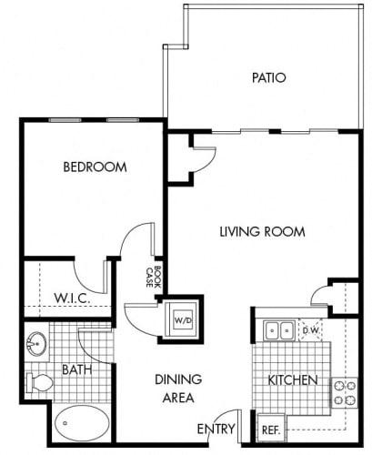 Floor Plan  Mayfair Residences 1Bed 1Bath Floorplan L
