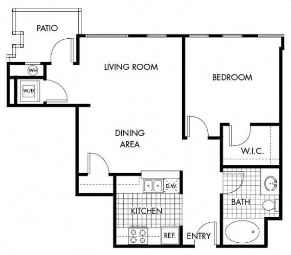 Floor Plan  Mayfair Residences 1Bed 1BathFloorplan A