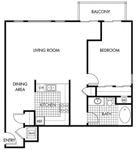 Floor Plan  Mayfair Residences 1Bed 1Bath Floorplan M