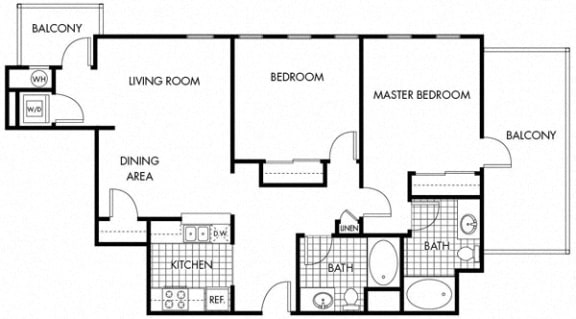 Floor Plan  Mayfair Residences 2Bed 2Bath Floorplan P