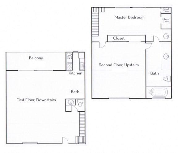 Floor Plan  Ocean View Townhomes two story floor plan