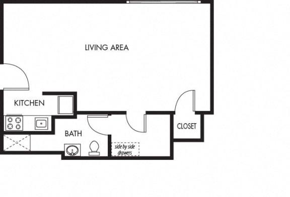 Floor Plan  Moana Vista Studio Floorplan