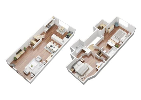 Floor Plan  2 Bedroom Townhouse Crenshaw Townhouses