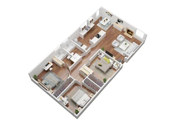 Floor Plan  Dogwood 3 Bedroom