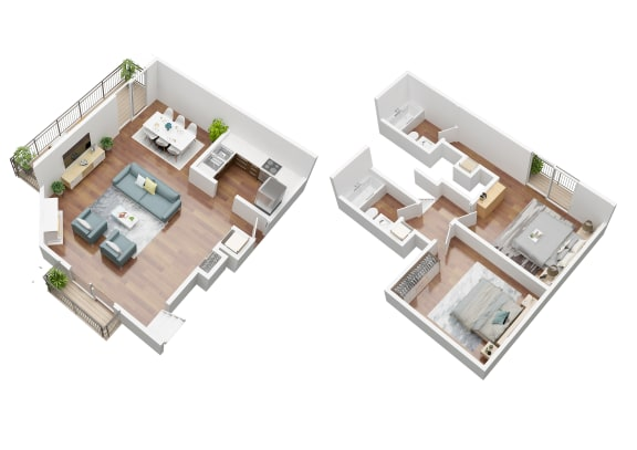 Floor Plan  Conzumel Townhome Floorplan