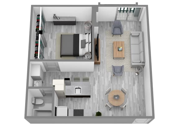 Floor Plan  1BD - A