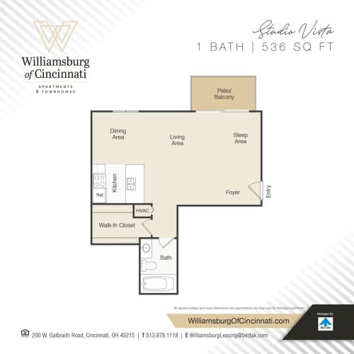 Floor Plan  Studio Vista