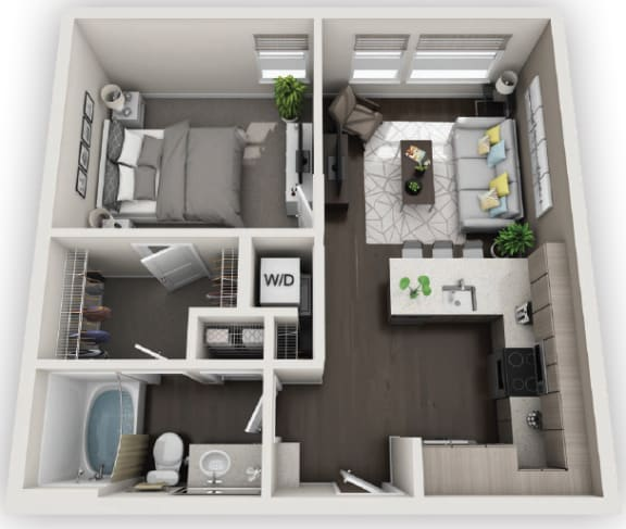 Floor Plan  1X1 A1 available at Fusion 355 in Broomfield, CO