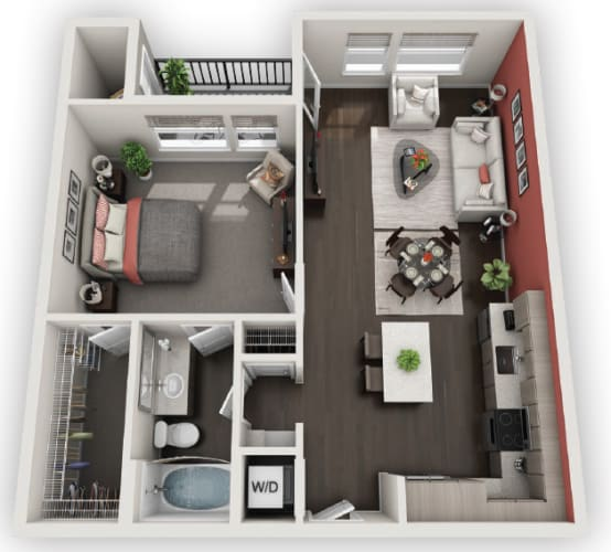 Floor Plan  1X1 A4 available at Fusion 355 in Broomfield, CO