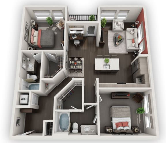 Floor Plan  2X2 B2 available at Fusion 355 in Broomfield, CO