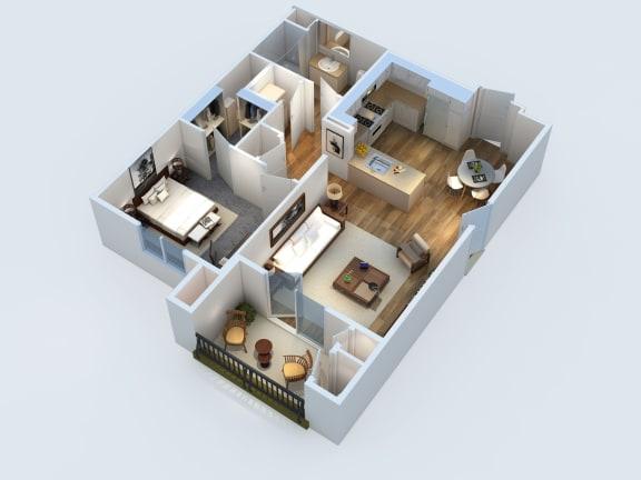 Floor Plan  1x1 771 sq ft