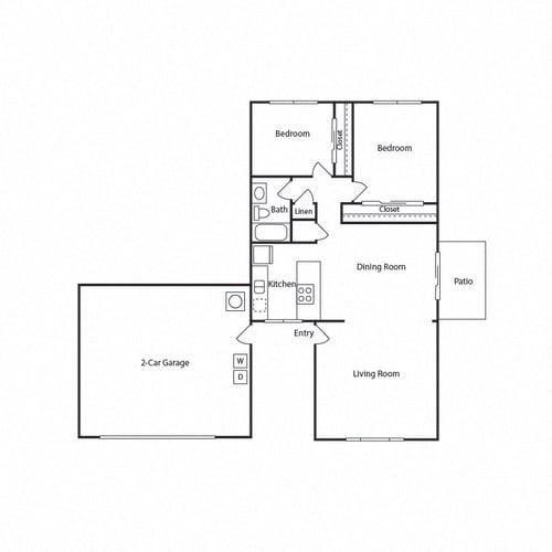 Floor Plan  2B 1B B