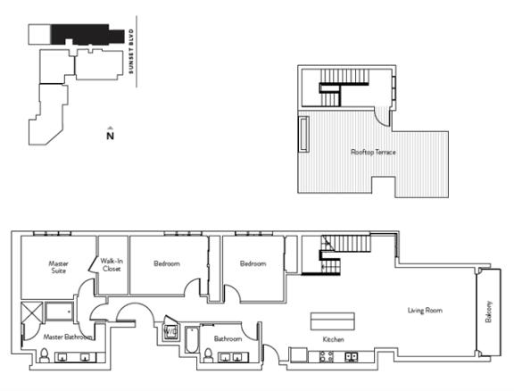 Floor Plan  3 Bed 2 Bath 1769 square feet floor plan Residence N