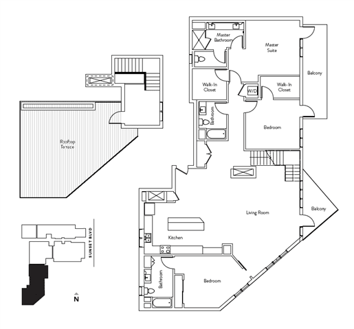 Floor Plan  3 Bed 3 Bath 2192 square feet floor plan Residence O