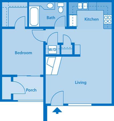 Floor Plan  Villas at Montebella 1A Floor plan 2d image depicting floor play layout.