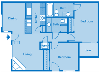 Floor Plan  Villas at Montebella 1A Floor plan 2C image depicting floor play layout.