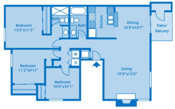 Floor Plan  Sundown Village 3A Floor Plan image depicting floor plan layout.