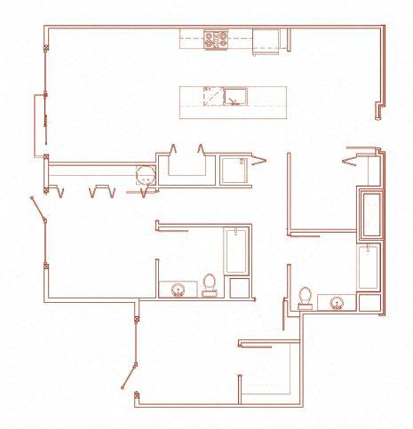 Floor Plan  G 2x2 Den