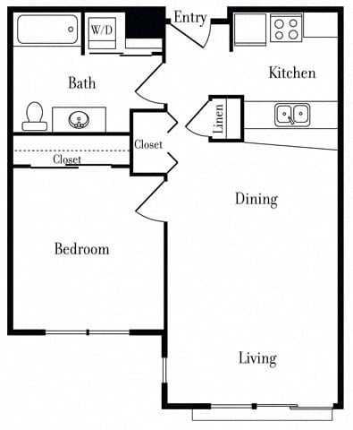 Floor Plan  507 One Bedroom