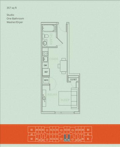 Floor Plan  Studio - Rappel