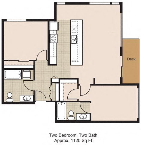 Floor Plan  525 Two Bedroom