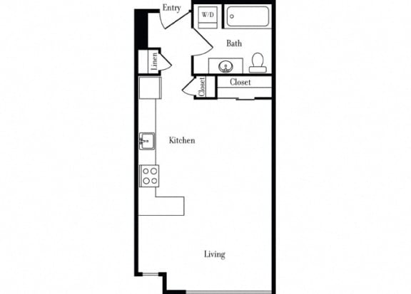 Floor Plan  507 Studio