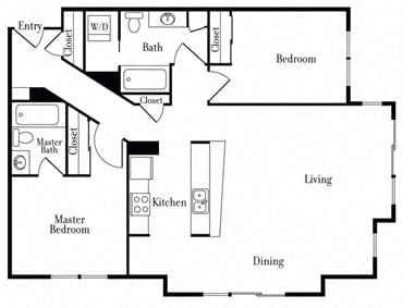 Floor Plan  507 Two Bedroom