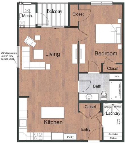 Floor Plan  1 Bedroom 1 Bathroom Sto Floor Plan