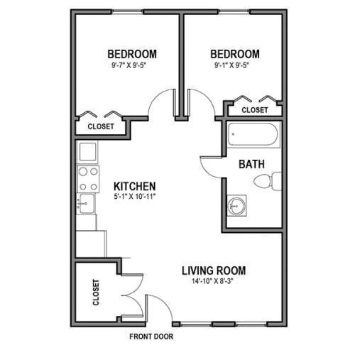 Floor Plan  2 Bedroom Loft