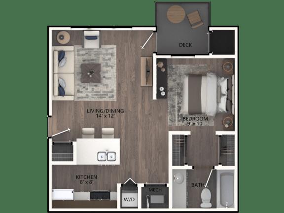 Floor Plan  Bayberry Studio