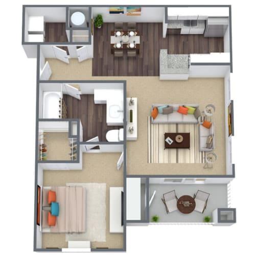 Floor Plan  1 bedroom, 1 bathroom floor plan