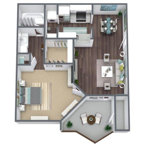 Floor Plan  1-Bed, 1-Bath Floor Plan. 564 Sqft.