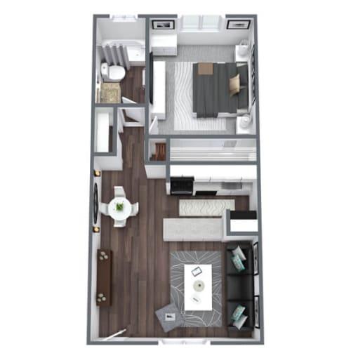 Floor Plan  Coronado Floor Plan 1-Bed, 1-Bath 525SQFT