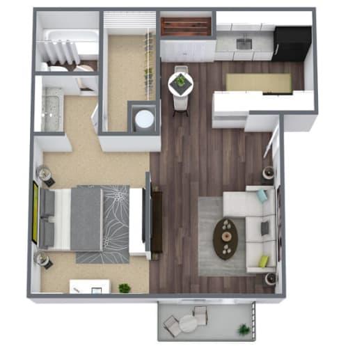 Floor Plan  1-Bedroom, 1-Bathroom Floor Plan, 550 SQFT.