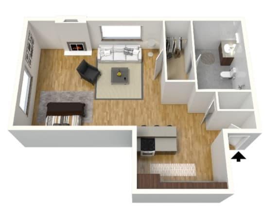 Floor Plan  3D floor plan Plum Creek
