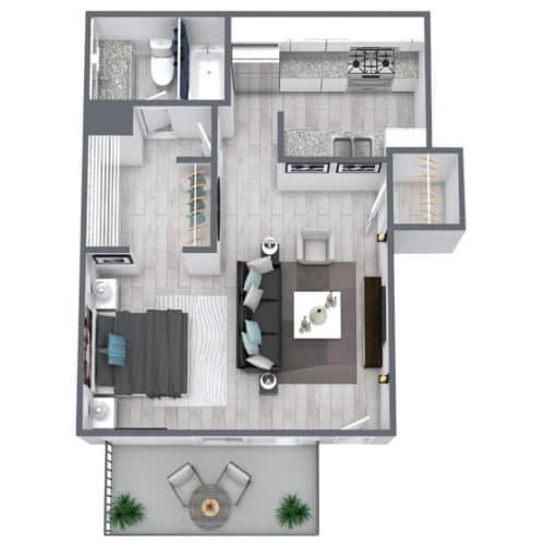 Floor Plan  Studio floor plan 415 sqft