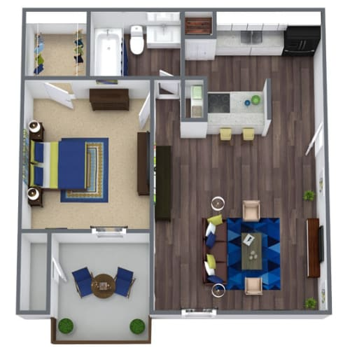 Floor Plan  Garden Ridge Floor Plan 1x1