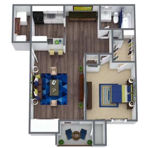Floor Plan  Sierra Ridge Floor Plan 1x1