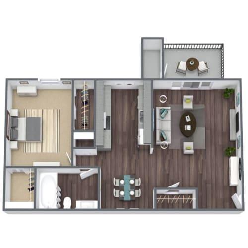 Floor Plan  A1 Floor Plan 1x1