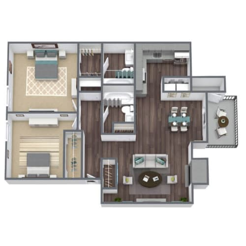 Floor Plan  B2 Floor Plan 2x2